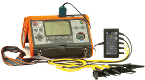 Адаптер AUTO-ISO 1000C подключенный к измерителю MPI-520