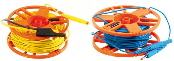 """Измерительные провода 25 м и 50 м на катушке с разъемами """"банан"""""""