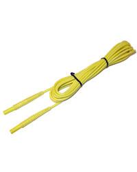 Провод измерительный 20 м с разъемами «банан» желтый