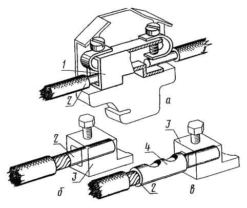 Разборные контактные соединения проводников с гнездовыми выводами